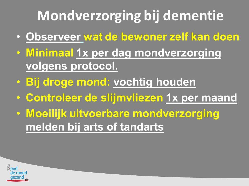 Mondverzorging bij dementie