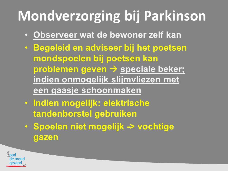 Mondverzorging bij Parkinson