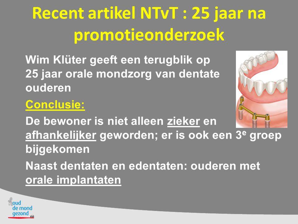 Recent artikel NTvT : 25 jaar na promotieonderzoek