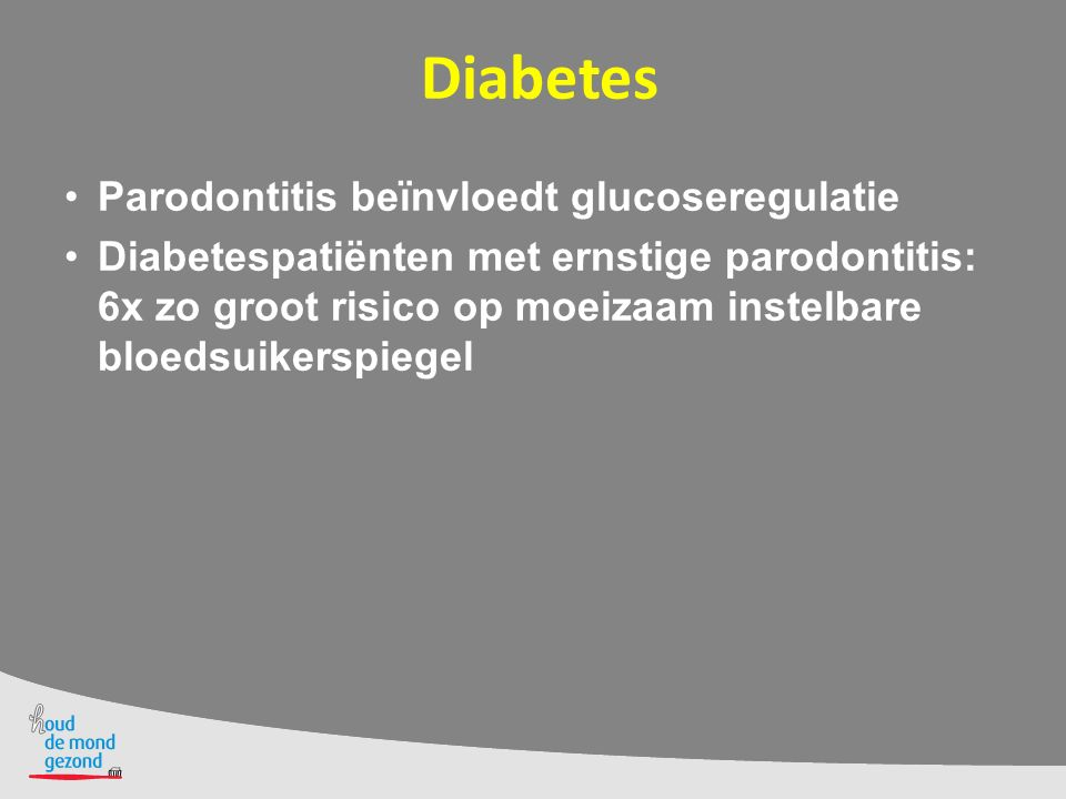 Diabetes Parodontitis beïnvloedt glucoseregulatie