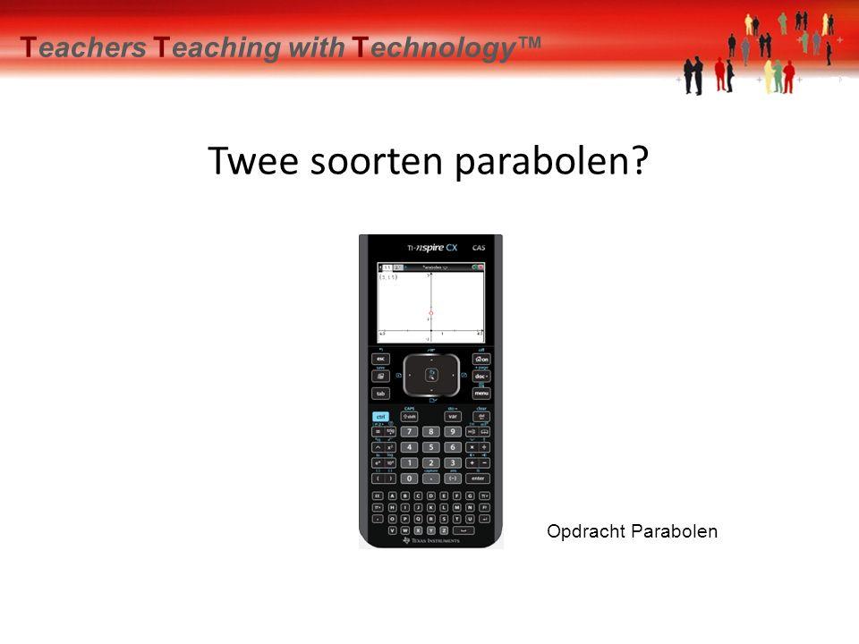 Twee soorten parabolen