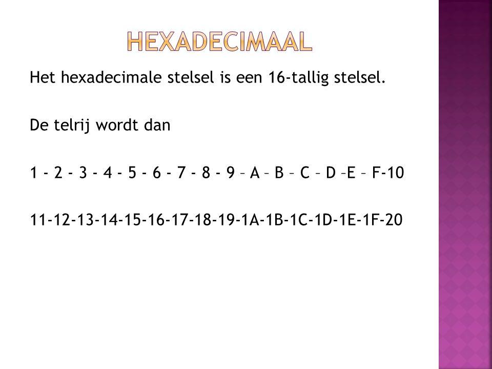 Hexadecimaal