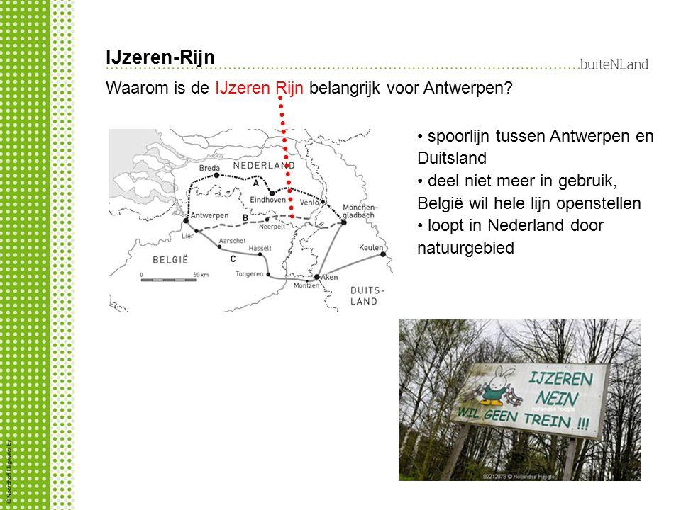 IJzeren-Rijn Waarom is de IJzeren Rijn belangrijk voor Antwerpen