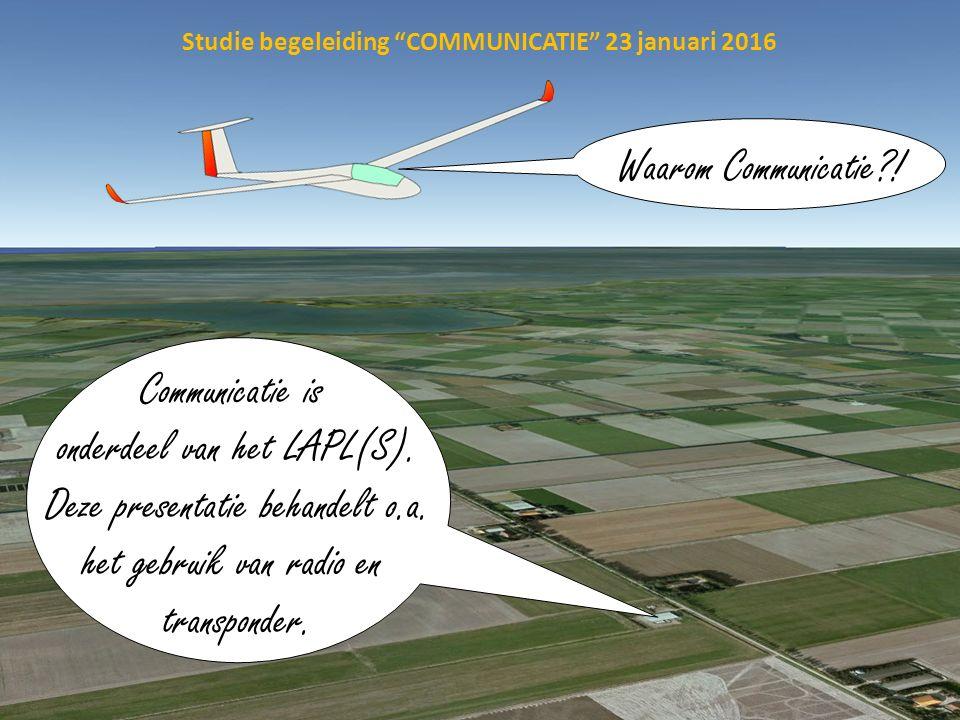 Studie begeleiding COMMUNICATIE 23 januari 2016