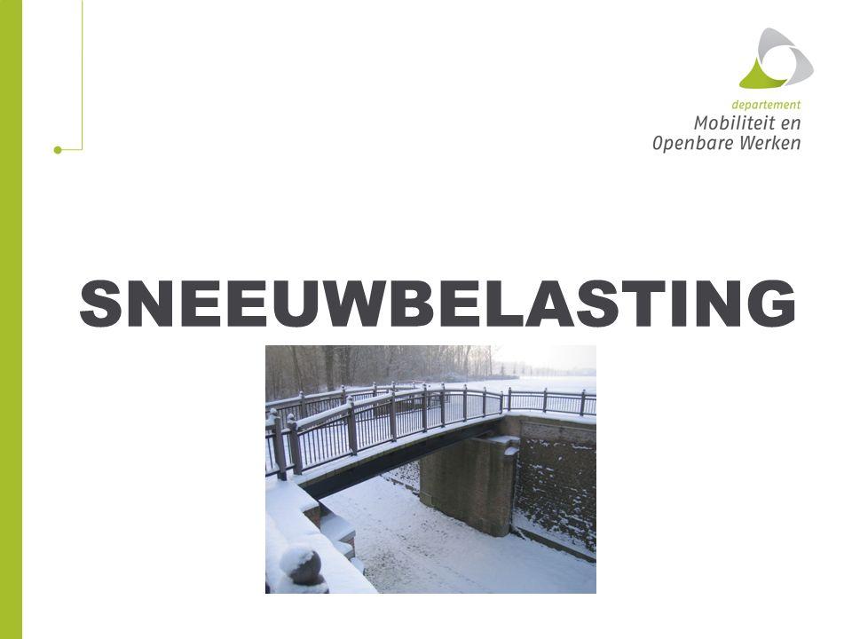 Sneeuwbelasting Niet maatgevend, tenzij bij beweegbare bruggen tijdens de bewegingscyclus.