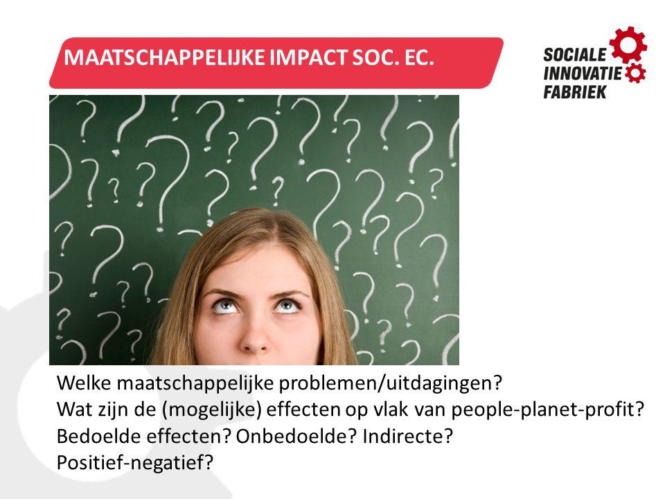 Maatschappelijke impact Soc. Ec.