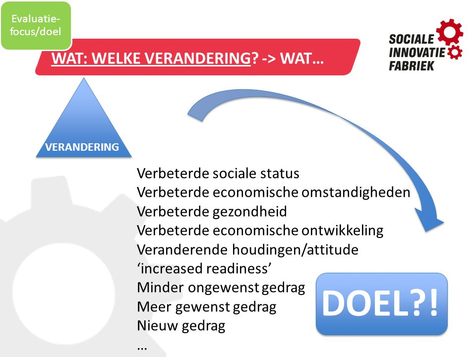 Evaluatie-focus/doel