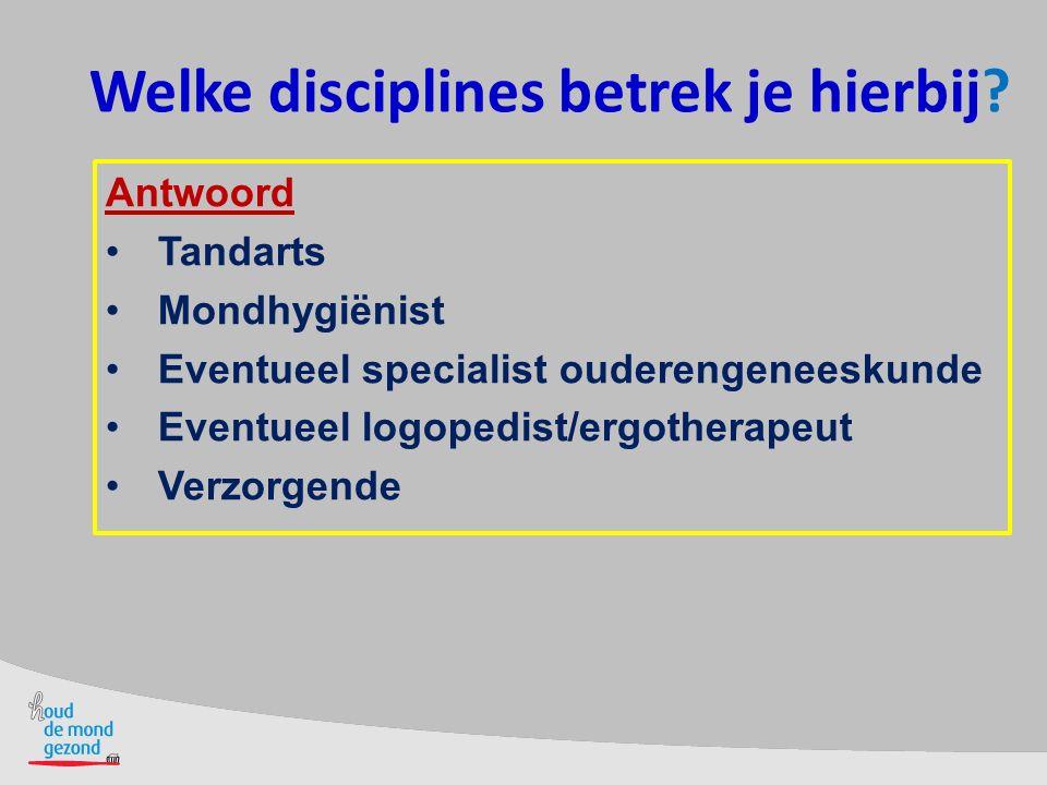 Welke disciplines betrek je hierbij
