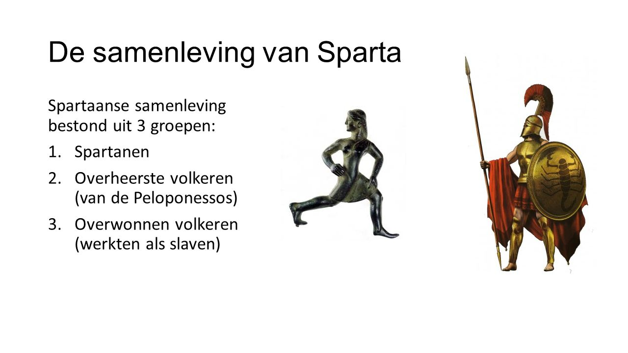 De samenleving van Sparta