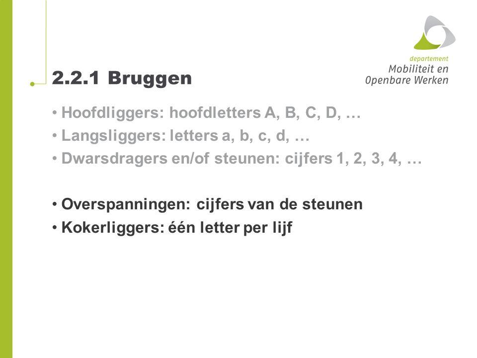 2.2.1 Bruggen Hoofdliggers: hoofdletters A, B, C, D, …