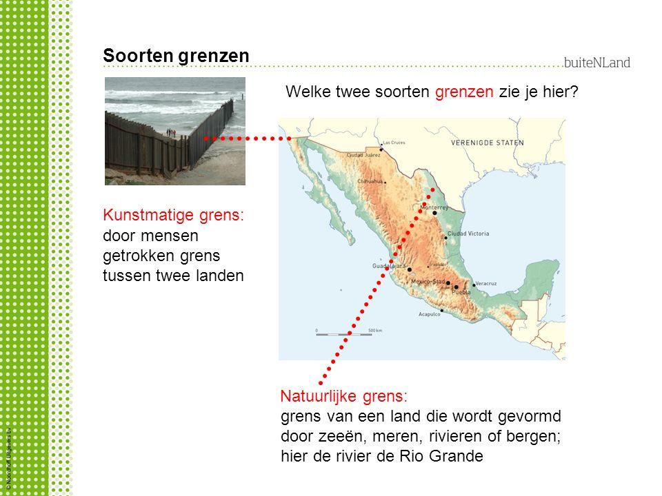 Soorten grenzen Welke twee soorten grenzen zie je hier