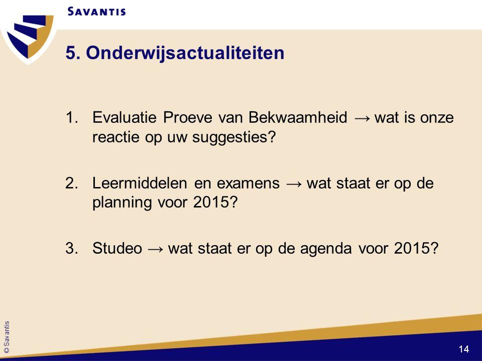 5. Onderwijsactualiteiten