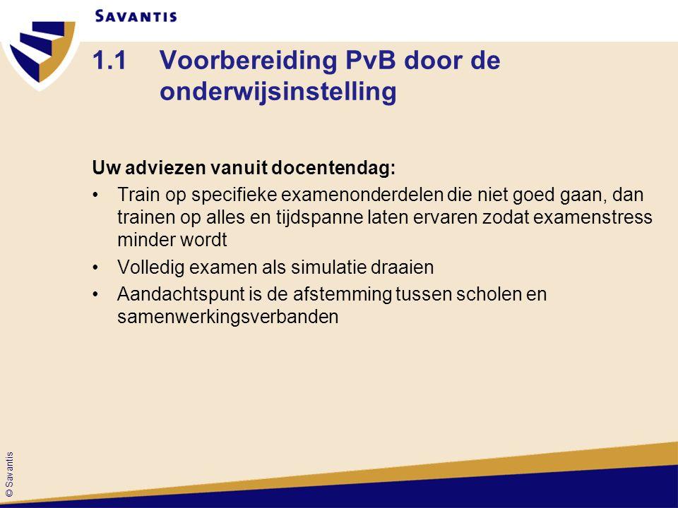 1.1 Voorbereiding PvB door de onderwijsinstelling