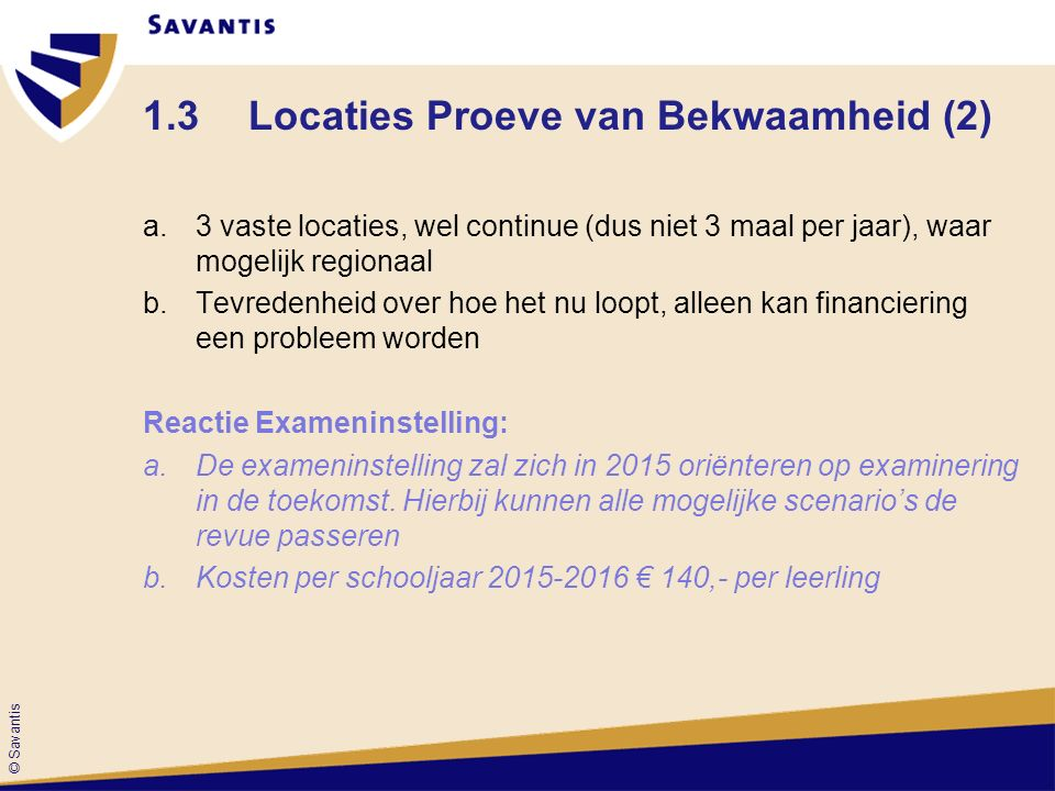 1.3 Locaties Proeve van Bekwaamheid (2)