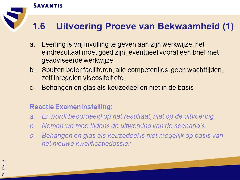 1.6 Uitvoering Proeve van Bekwaamheid (1)