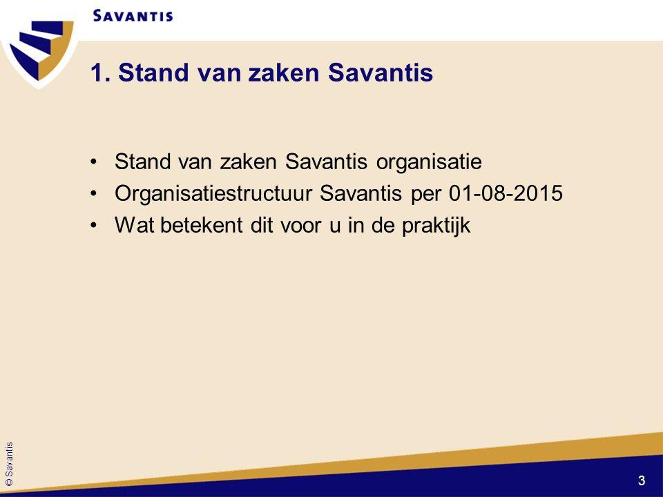1. Stand van zaken Savantis