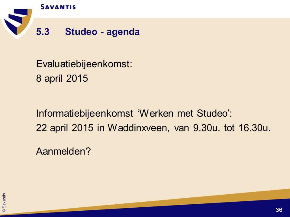 5.3 Studeo - agenda