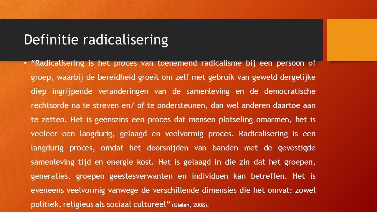 Definitie radicalisering