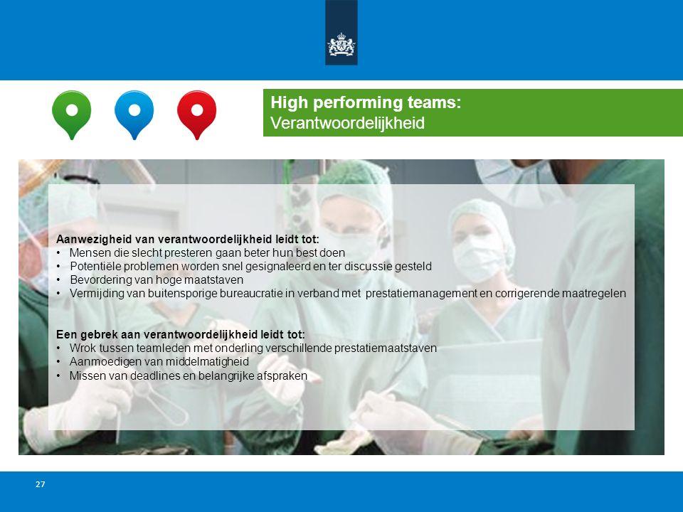High performing teams: Verantwoordelijkheid