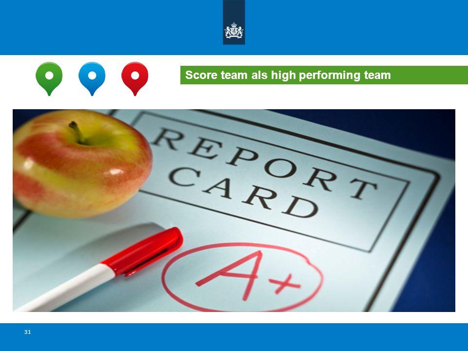 Score team als high performing team