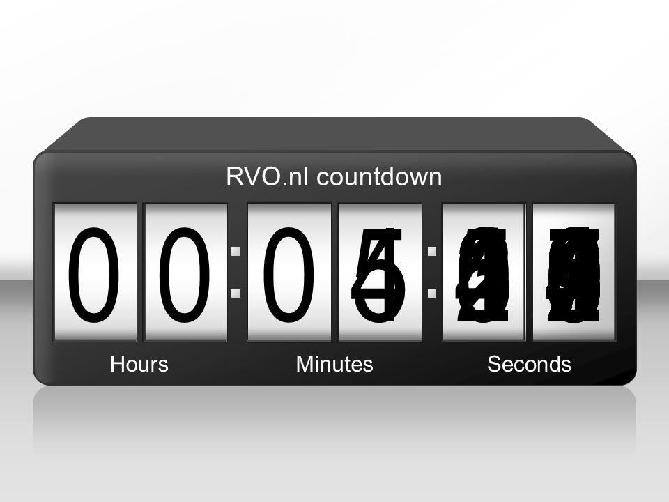 RVO.nl countdown 4. 5. 3. 1. 5. 4. 2. 7. 6. 8. 9. 1. 5. 6. 4. 3. 5. 2. 9. 4. 5.