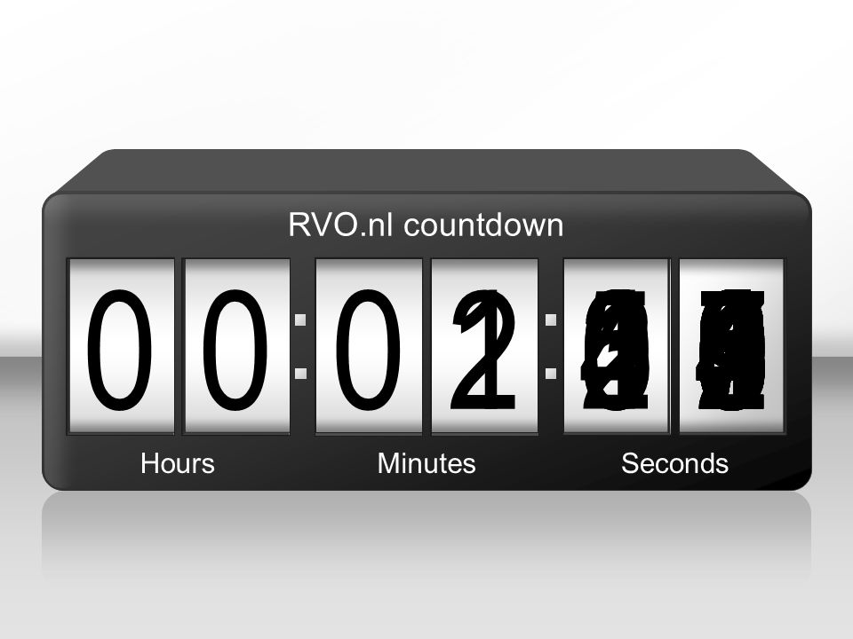 RVO.nl countdown 1. 2. 3. 1. 5. 4. 2. 7. 6. 8. 9. 1. 5. 6. 4. 3. 5. 2. 9. 4. 5.