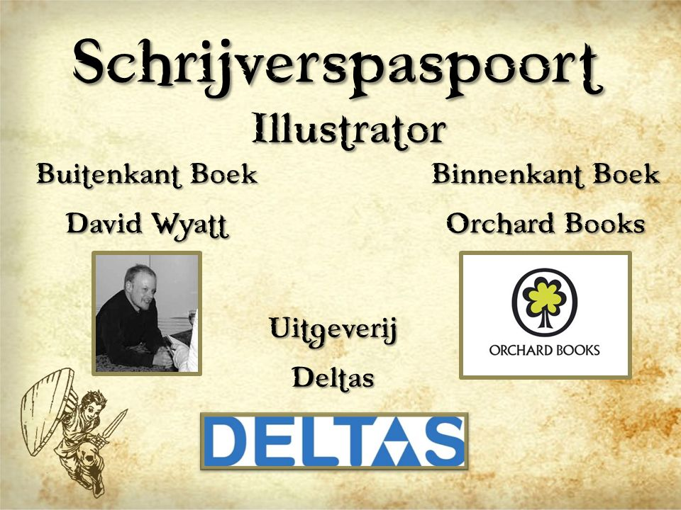 Schrijverspaspoort Illustrator Buitenkant Boek David Wyatt