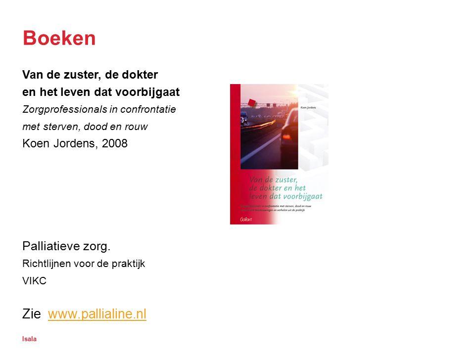 Boeken Zie www.pallialine.nl Palliatieve zorg.
