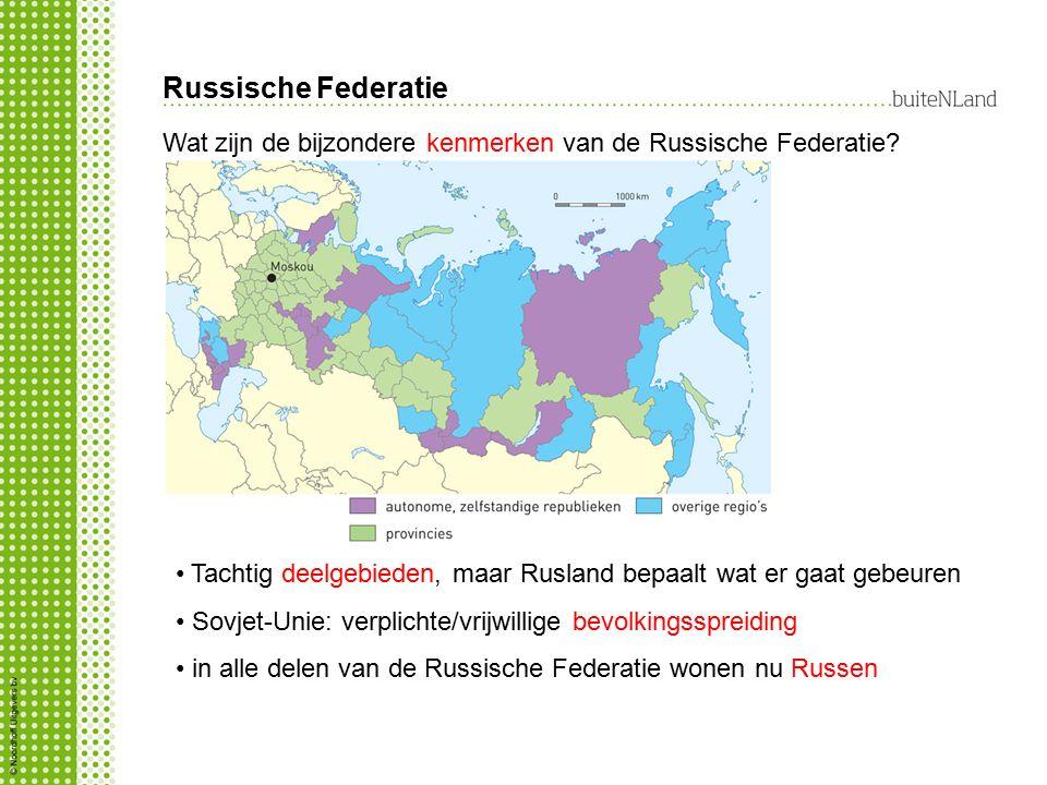 Russische Federatie Wat zijn de bijzondere kenmerken van de Russische Federatie Tachtig deelgebieden, maar Rusland bepaalt wat er gaat gebeuren.