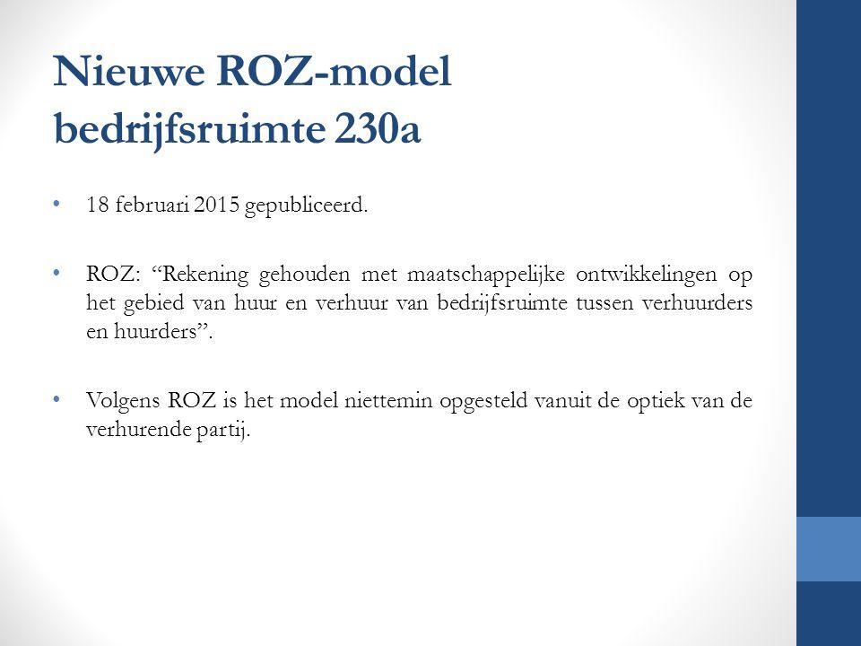 Nieuwe ROZ-model bedrijfsruimte 230a