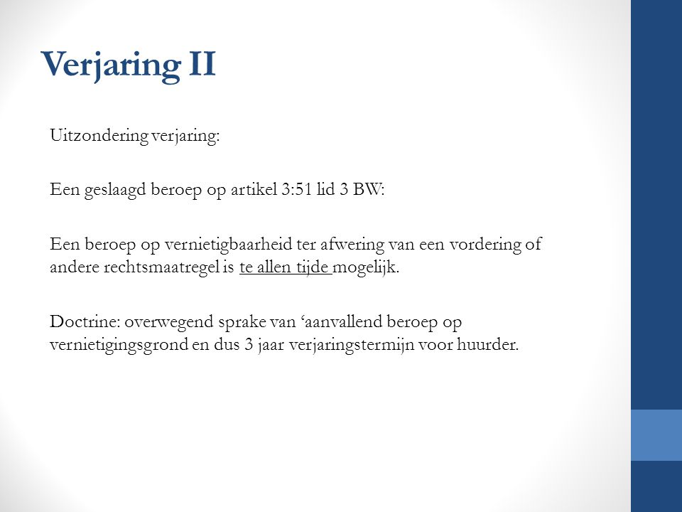 Verjaring II