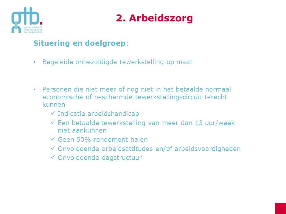 2. Arbeidszorg Situering en doelgroep: