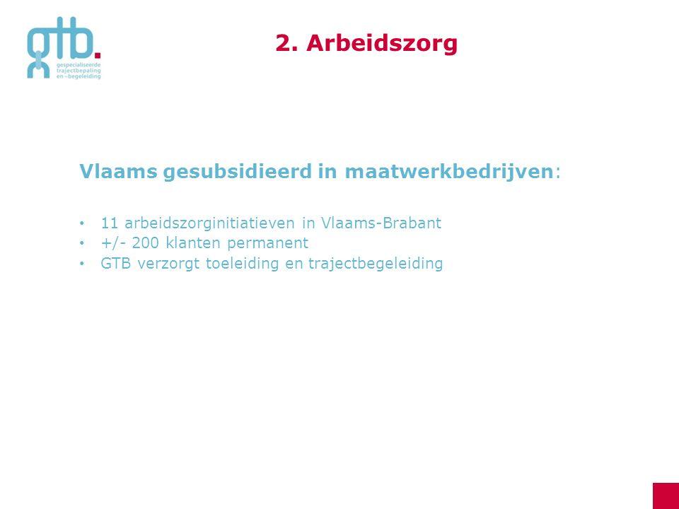 2. Arbeidszorg Vlaams gesubsidieerd in maatwerkbedrijven: