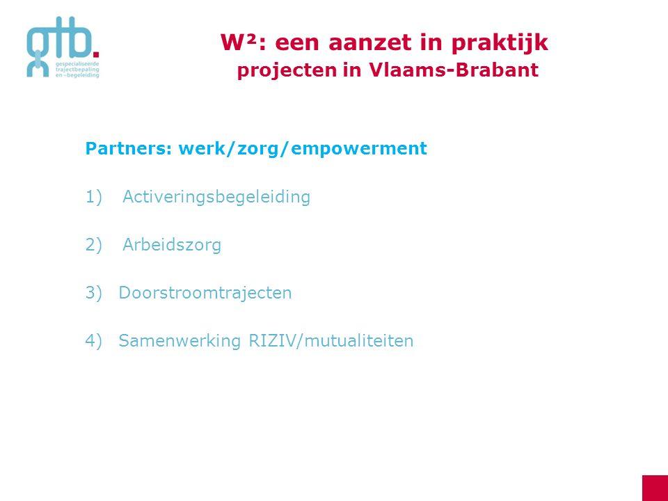W²: een aanzet in praktijk projecten in Vlaams-Brabant