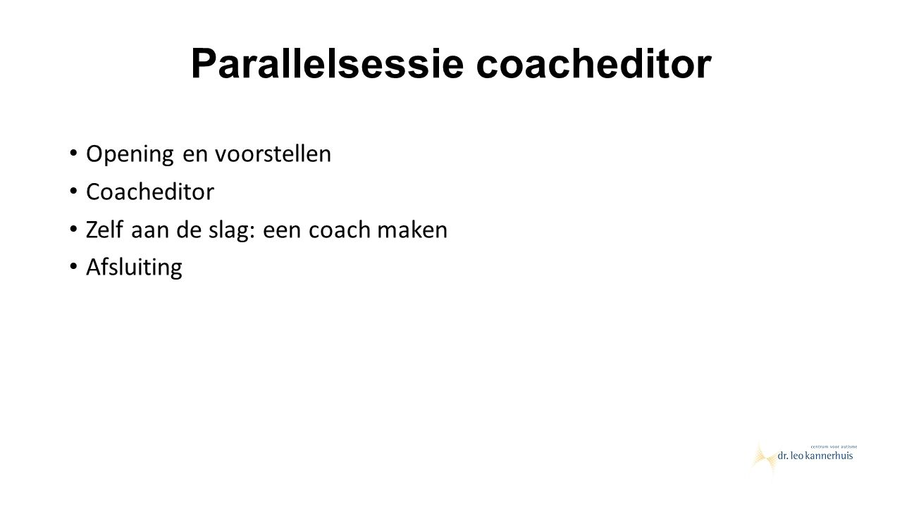 Parallelsessie coacheditor