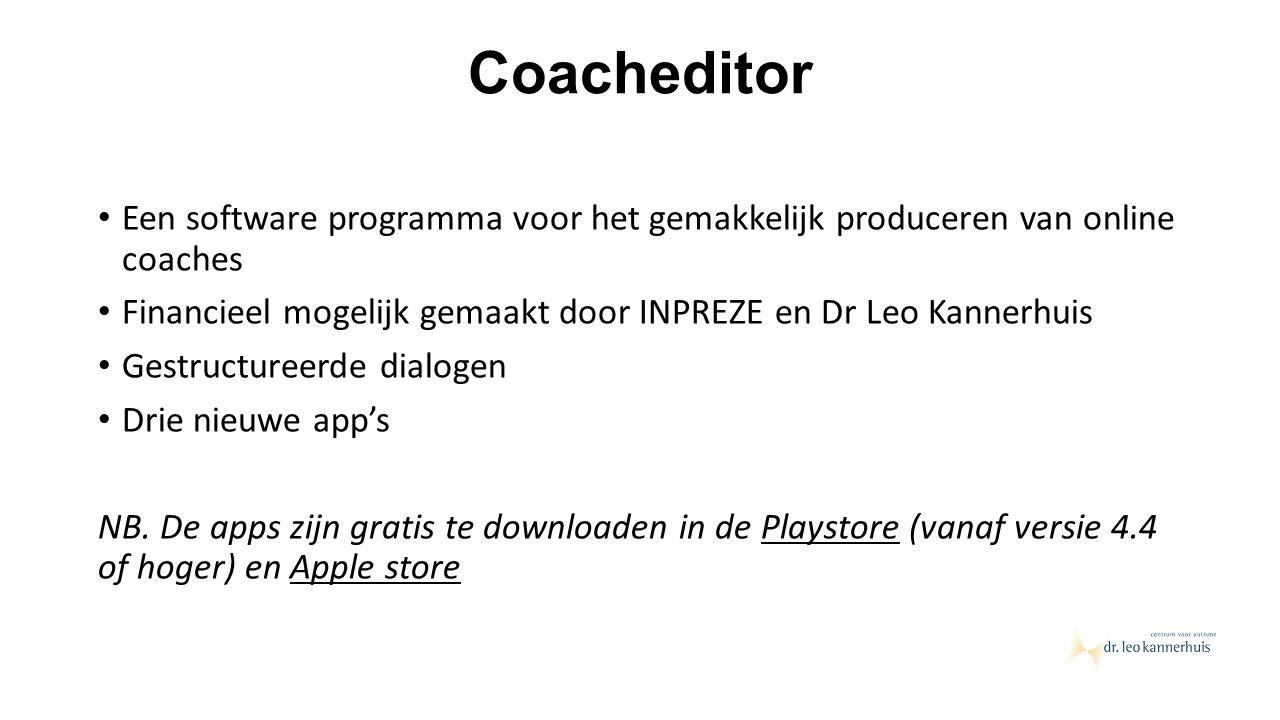 Coacheditor Een software programma voor het gemakkelijk produceren van online coaches.