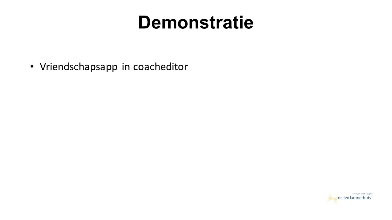 Demonstratie Vriendschapsapp in coacheditor
