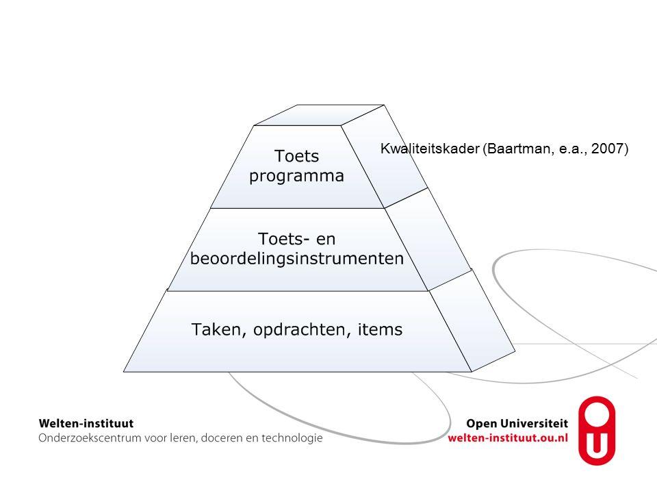 Kwaliteitskader (Baartman, e.a., 2007)