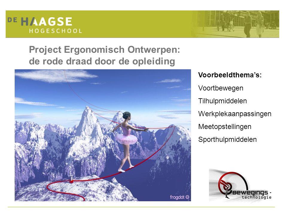 Project Ergonomisch Ontwerpen: de rode draad door de opleiding