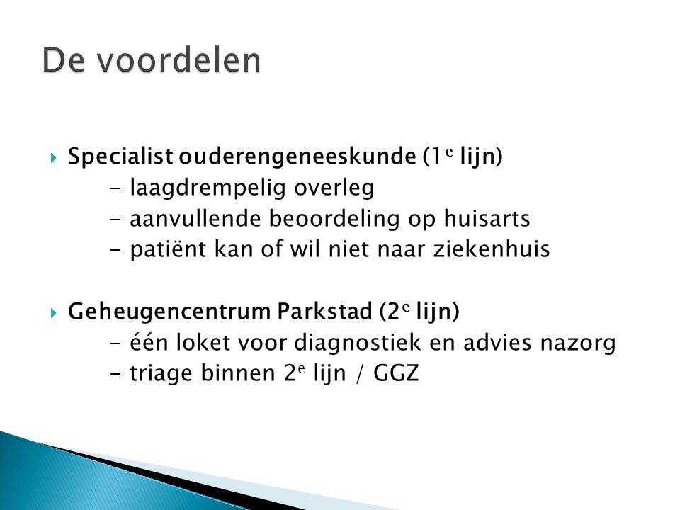 De voordelen Specialist ouderengeneeskunde (1e lijn)