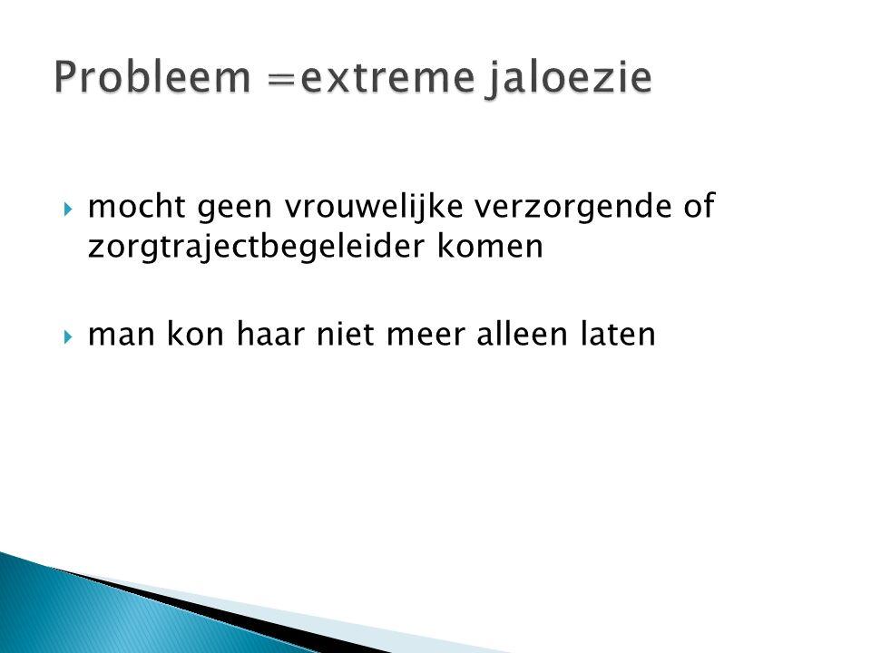 Probleem =extreme jaloezie