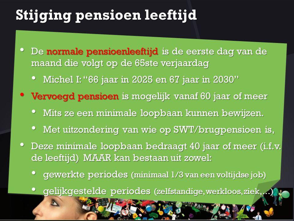 Stijging pensioen leeftijd