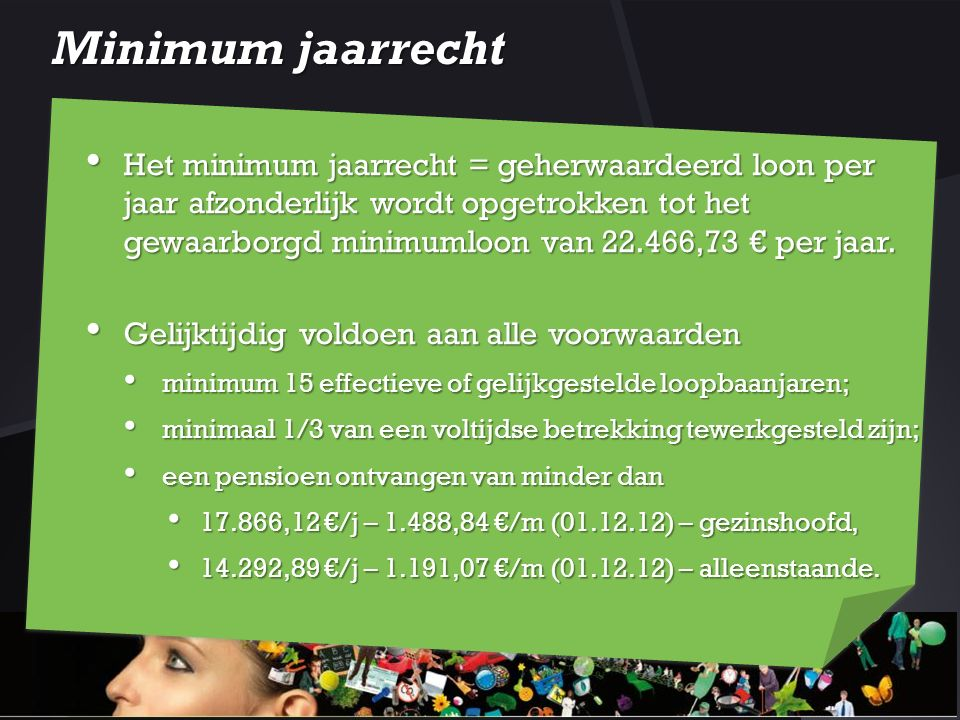 Minimum jaarrecht