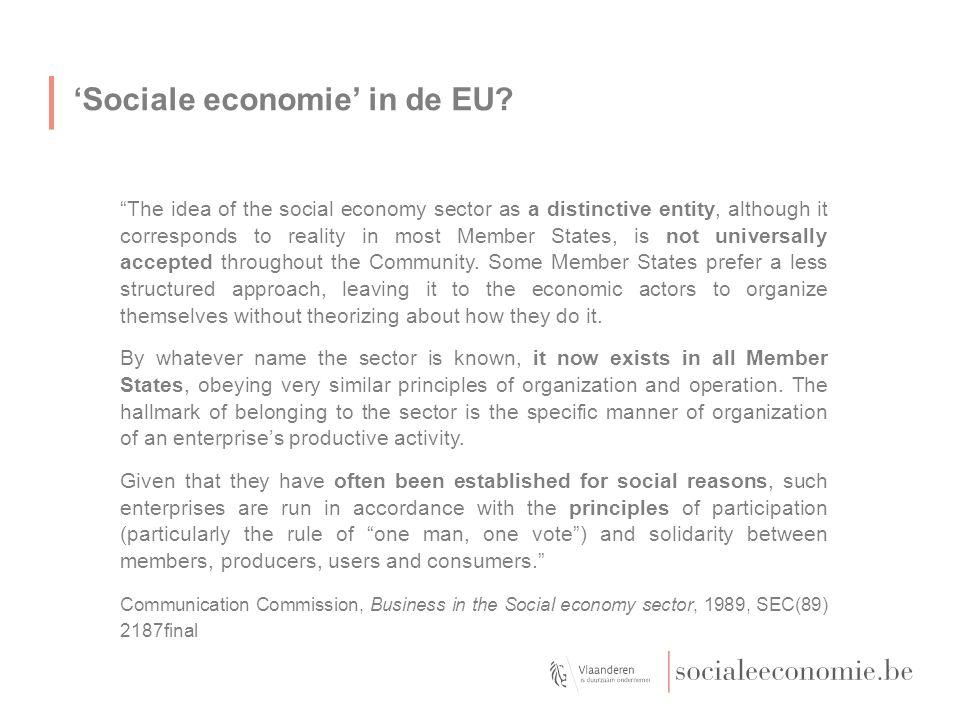 'Sociale economie' in de EU