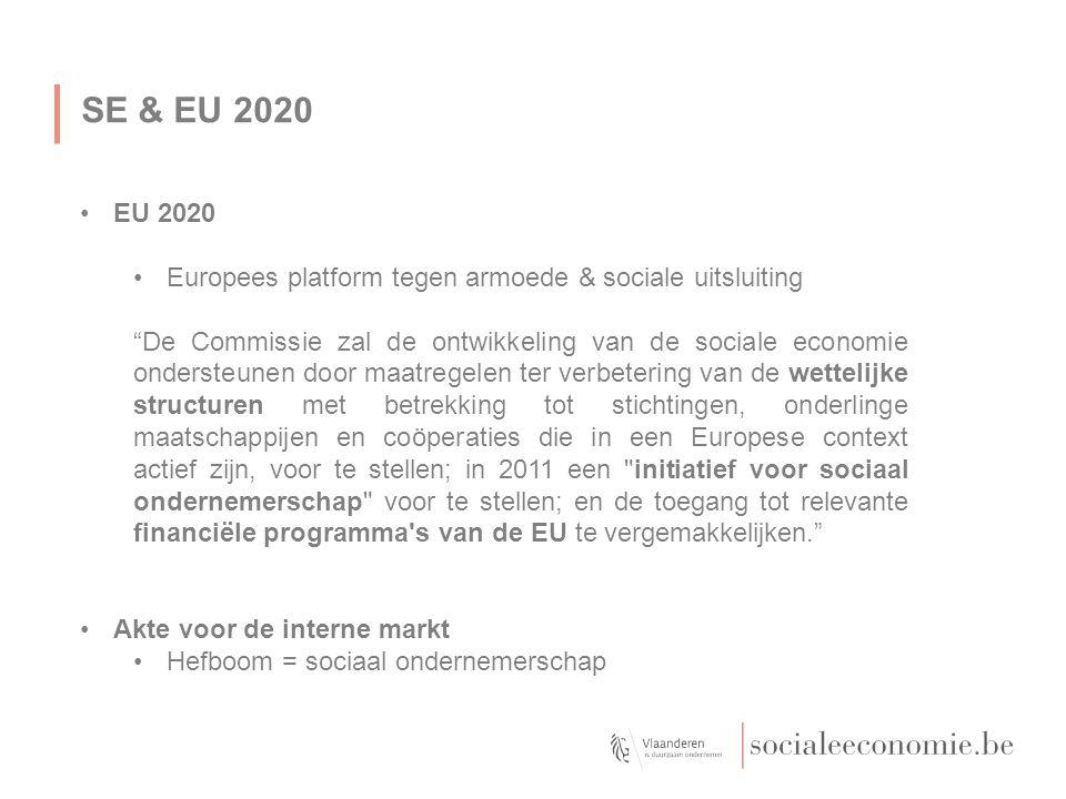 SE & EU 2020 EU 2020. Europees platform tegen armoede & sociale uitsluiting.