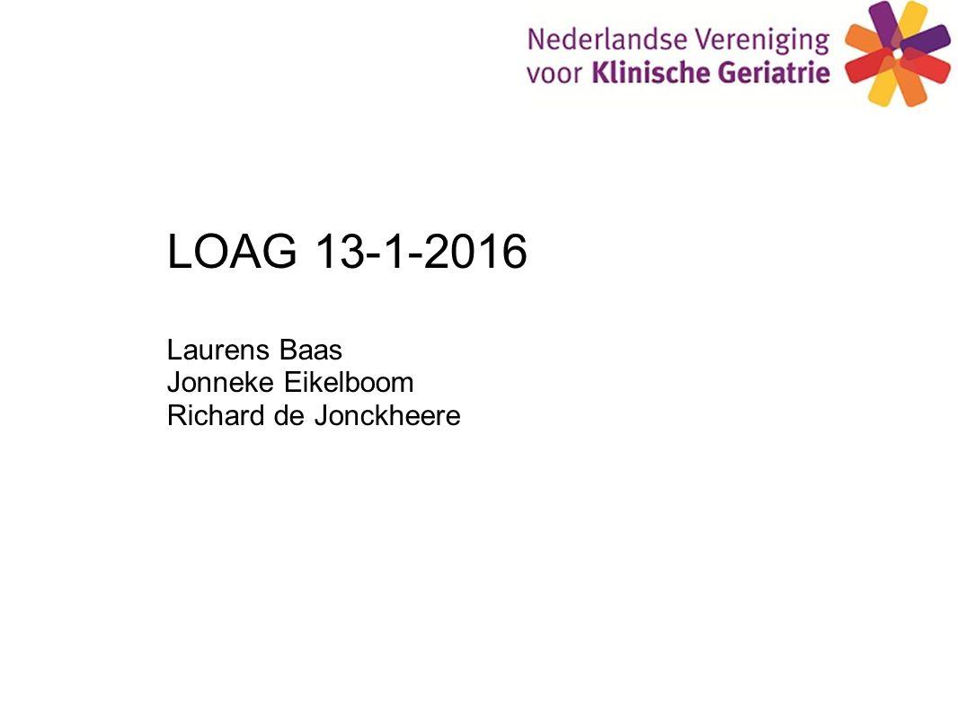 LOAG 13-1-2016 Laurens Baas Jonneke Eikelboom Richard de Jonckheere