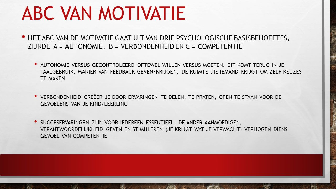 ABC van motivatie