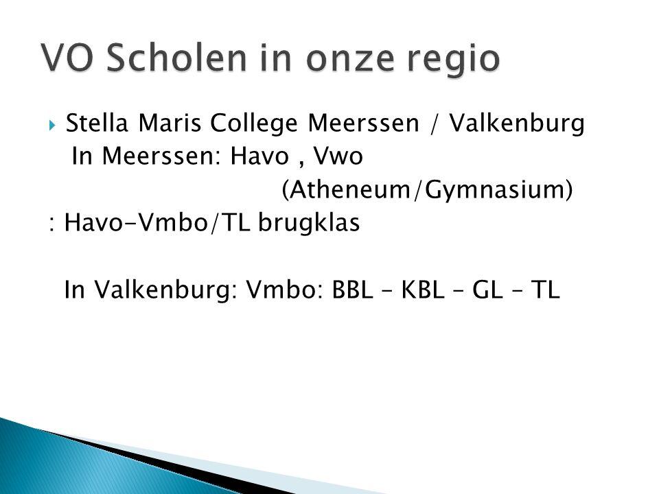 VO Scholen in onze regio