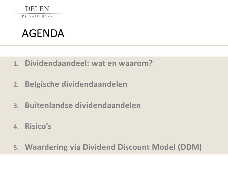 agenda Dividendaandeel: wat en waarom Belgische dividendaandelen