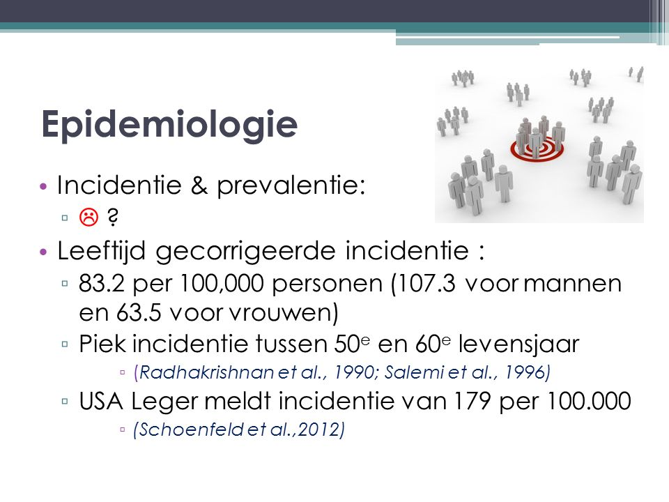Epidemiologie Incidentie & prevalentie: